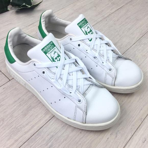 Adidas Stan Smith Tennis Shoes Green White US 6